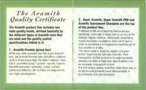 Aramith Quality Certificate