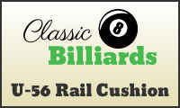 classic billiards u56 rail cushion