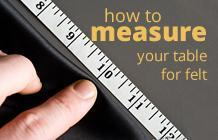 How to measure your pool table for felt