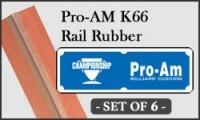 Pro-Am K-66 Rail Rubber Cushions - Set of 6